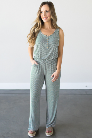 Jana Striped Jumpsuit