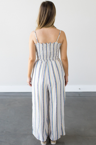 Kourtney Striped Jumpsuit