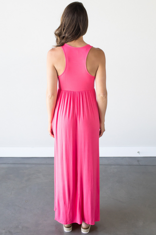 Taylor Sleeveless Maxi in Coral