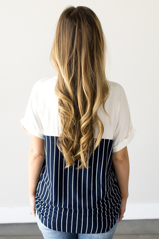 Laura Striped Pocket Tee
