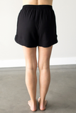 Alexa Drawstring Shorts in Black