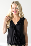 Jenna Crossover Ruffle Top