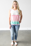 Leah Summer Striped Tank