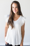 Blakely Ruffle Sleeve Top