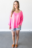 Z - Mallory V-Neck Knit Top - Pink