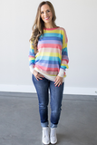 Hollis Striped Knit Top