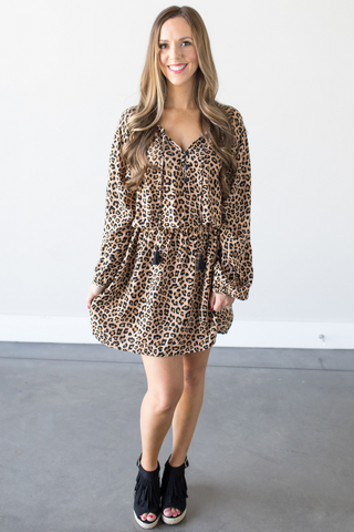 Calla Leopard Print Dress