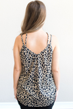 Z-Allie Leopard Criss-Cross Tank