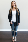 Z-Brecken Lightweight Cardigan - Black