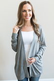 Brecken Lightweight Cardigan - Heather Grey