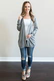 Z-Brecken Lightweight Cardigan - Heather Grey