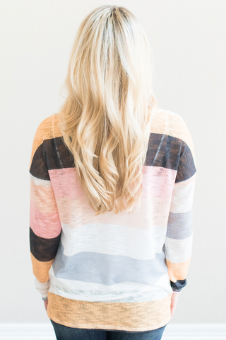 Demi Striped Knit Top