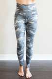 Z-Monroe Camo Legging in Grey Blue
