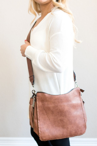 Breck Crossbody Bag -  Taupe or Brown