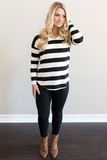 Z-Ella V-Neck Striped Top