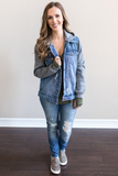 Z-Zara Hooded Denim Jacket