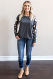 Z-Willa Floral Sleeve Top