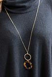 Tortoise Circle and Pendant Necklace