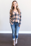 Z-Diem Checkered Knit Top