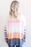 Z-Evie Striped Contrast Sweater