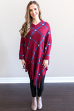 Claire Fringe Poncho