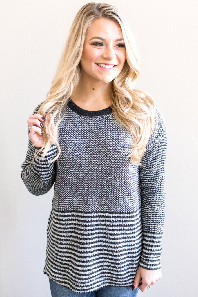 Aiden Striped Crew Neck Sweater