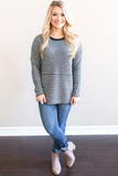 Z-Aiden Striped Crew Neck Sweater