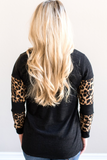 Z - Hannah Leopard Block Top