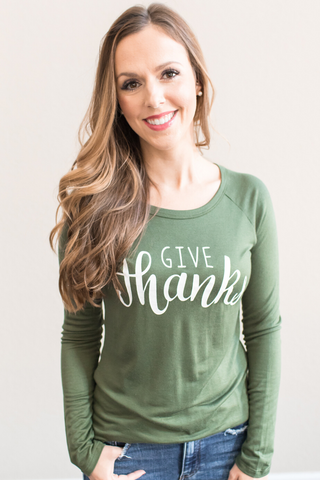 Give Thanks Graphic Top