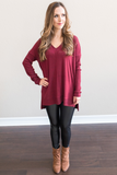 Emma V-Neck Tunic Top