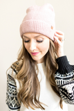 D & Y Classic Knit Beanie - Black, Off-White, Grey or Pink
