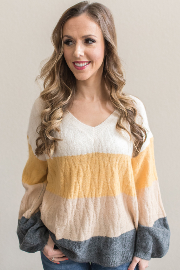Lucia Color Block Sweater