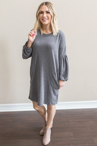 Cillia Balloon Sleeve Dress