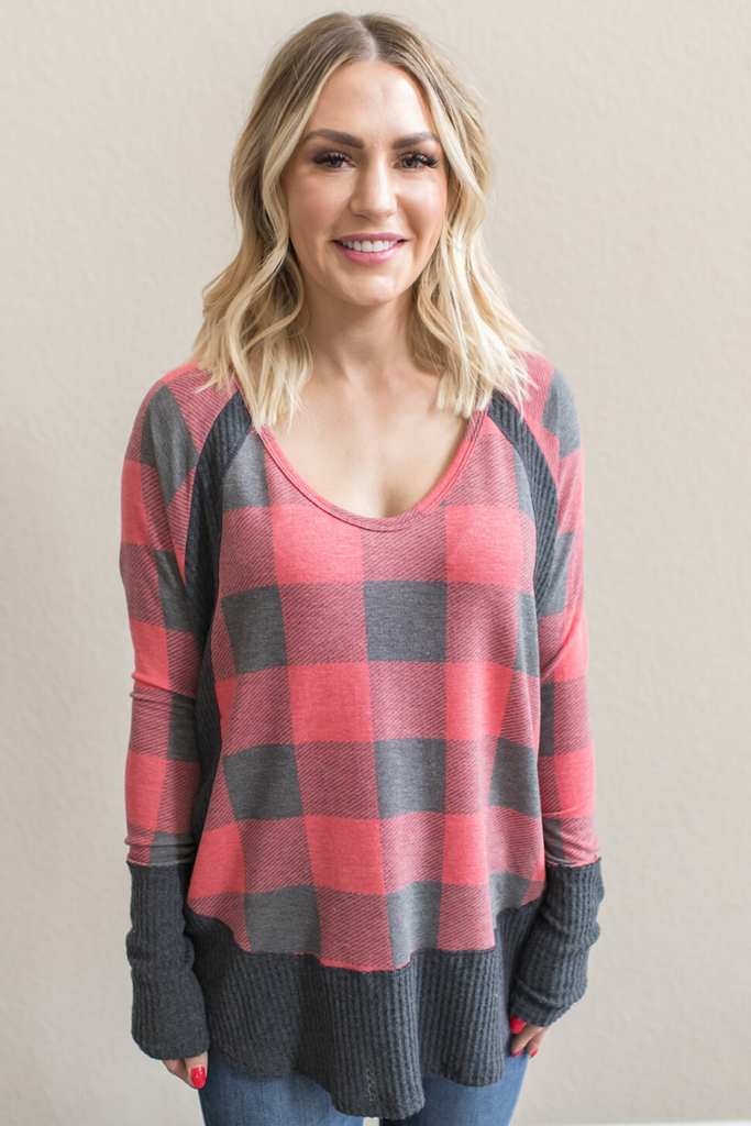 Z - Marnie Plaid V-Neck