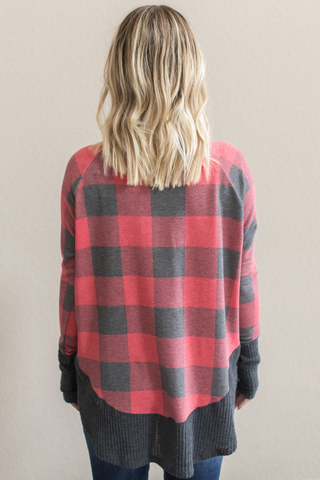 Marnie Plaid V-Neck