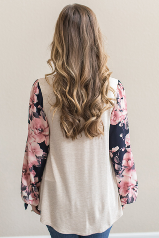 Robin Floral Sleeve Top