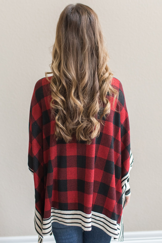 Remi Buffalo Plaid Poncho