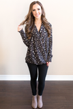 Emma Knit Leopard Print Top