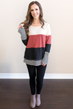 Z - Cori Thermal Color Block Top