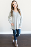 Hartlie V-Neck Knit Top