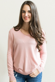 Rose V-Neck Knit Top