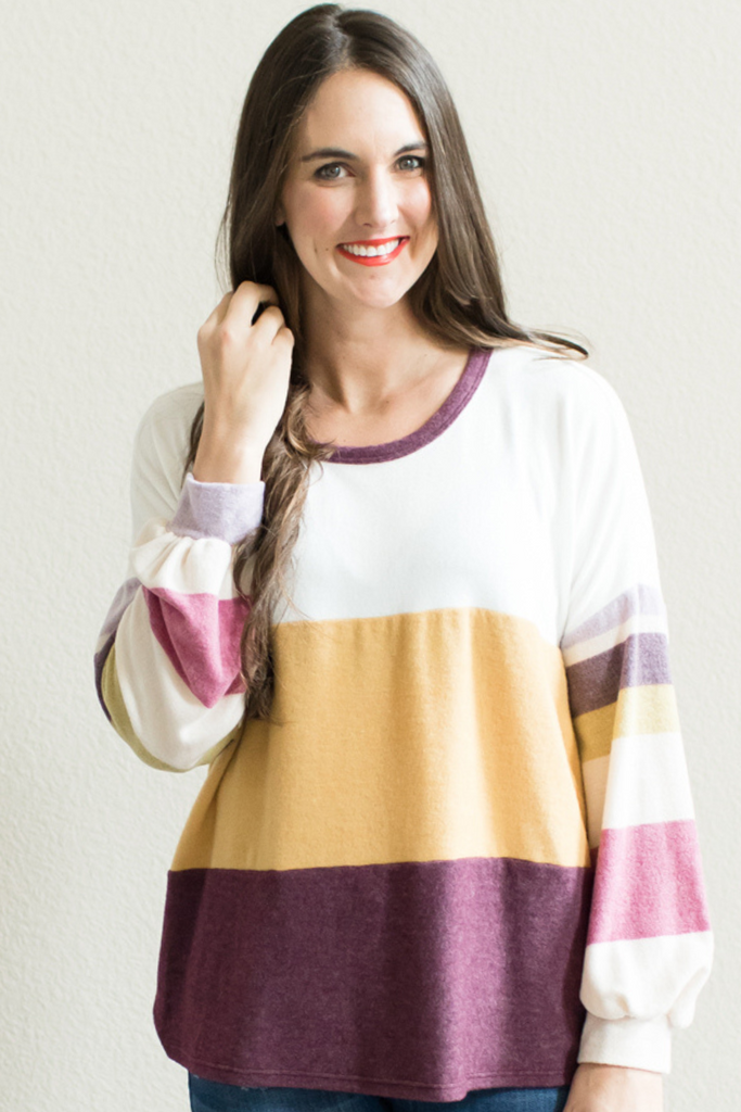 Emma Color Block Top