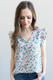 Z - Poppy Ruffle Sleeve Floral Top