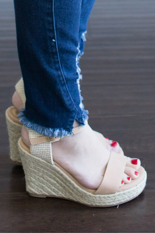 Jessica Nude Wedge