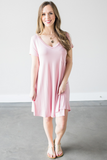 Dawn V-neck T-Shirt Dress