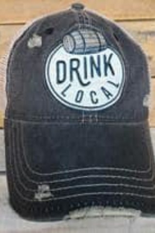 Drink Local Distressed Hat