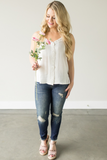 Dylan Button Down Tank - Ivory or Black