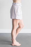 Stellan Striped Paper Bag Shorts
