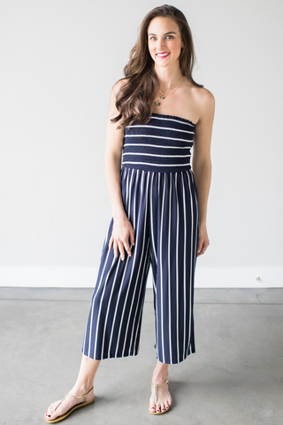 Kendra Smocked Jumpsuit
