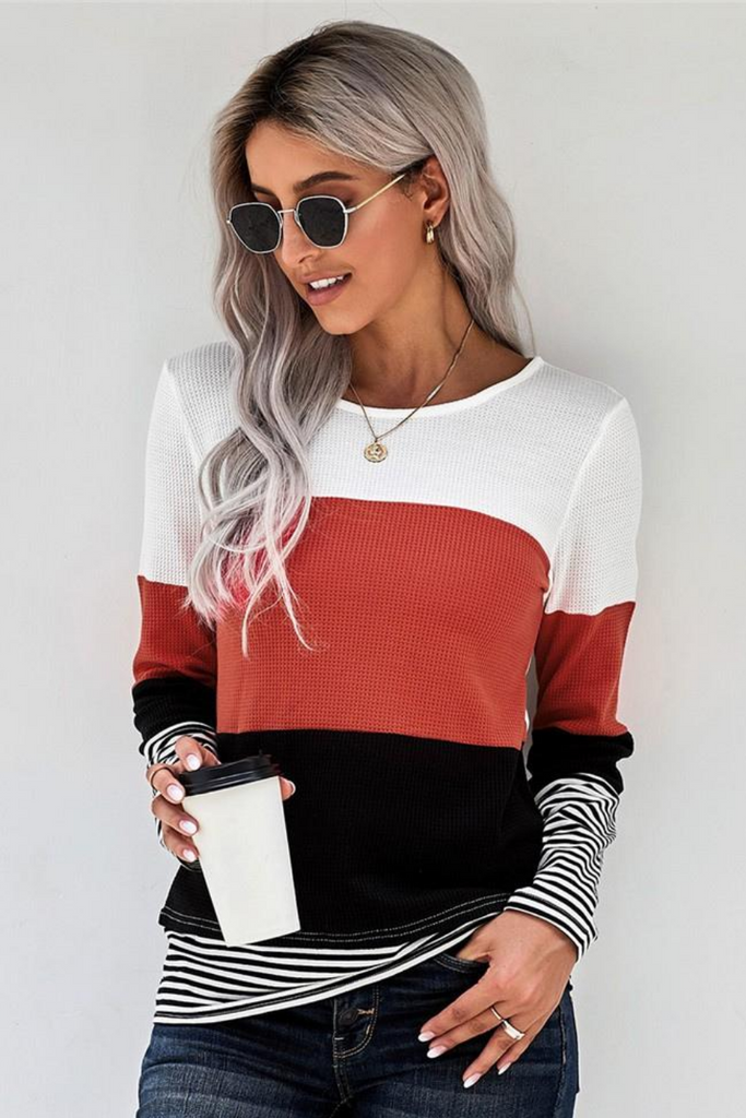 Aspen Color Block Top